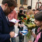 Franco Nero počas autogramiády