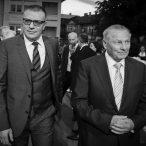 producent festivalu Ján Kováčik a ex-prezident Rudolf Šuster