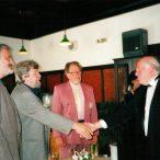 Milan Lasica, Miroslav Ondříček, Bengt Forslund členovia poroty 1998