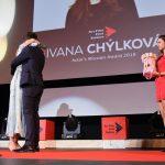 Ivanu Chýlkovú dojal syn Jáchym, ktorý bol pre ňu do poslednej chvíle utajeným hosťom. Foto: Peter Stas